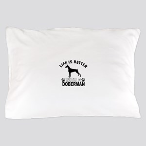Doberman vector designs Pillow Case